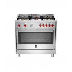 Bertazzoni Prima Freestanding 90cm Gas Hob/Electric Oven Dual Fuel Cooker - RIS95L 61L AX