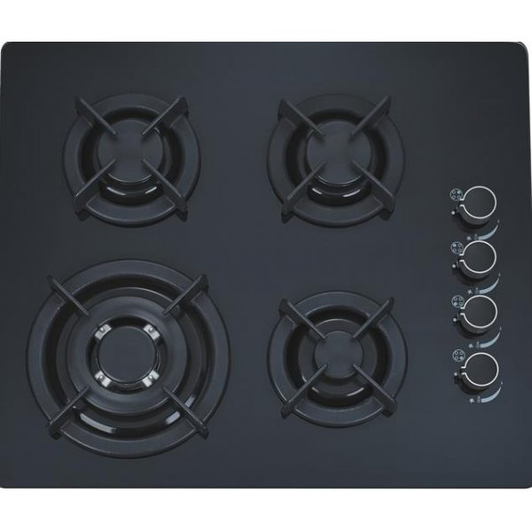 60cm Black Glass Gas Hob with 4 Burners (G4602GCP)