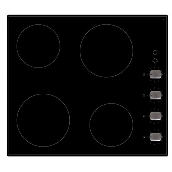 Eurotech 60cm Ceramic Bevelled Edge Cooktop with Knob Controls (ED-CC604K)