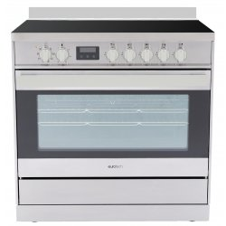 Eurotech 90cm Freestanding Ceramic/Electric Stove with Catalytic Cleaning-SS (ED-EUROC90SS)