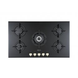 90cm Black Glass Built-In Gas Cooktop by Eisno (EIS-HG90-01)