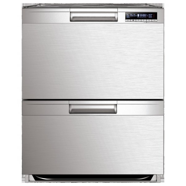 Eurotech 60cm Stainless Steel 14 Place 7 Program Double Dish Drawer (ED-DDCSS)