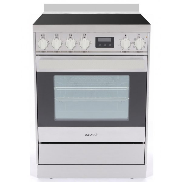 Eurotech 60cm Freestanding Ceramic/Electric Stove with Catalytic Cleaning-SS (ED-EUROC60SS)