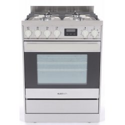Eurotech 60cm Freestanding Gas/Electric 76L Oven with Catalytic Cleaning (ED-EUROGE60SS)