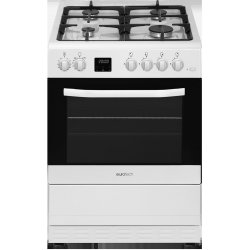 Eurotech 60cm White  Freestanding Gas Hob Electric Oven (ED-GEFC60 WH)