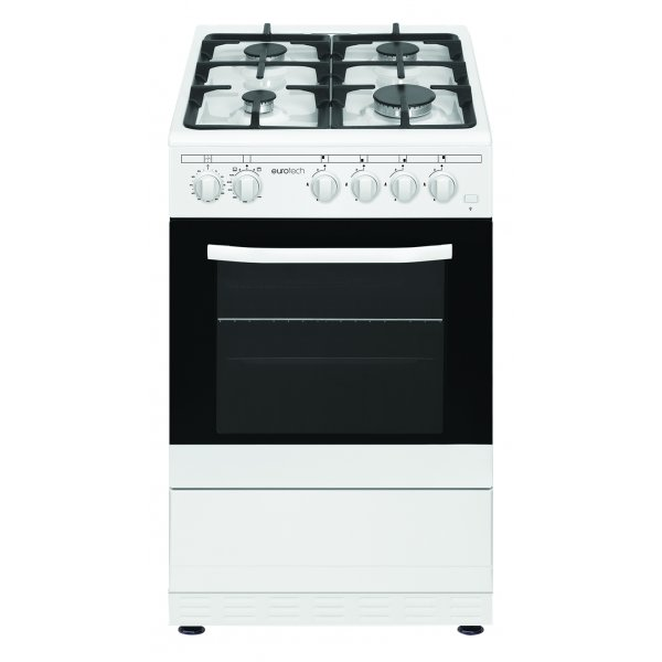 Eurotech 50cm Gas Hob Gas Oven White Freestanding Cooker (ED-GGFC50 WH)