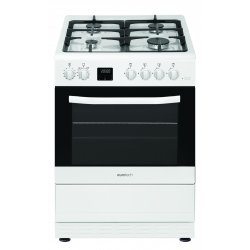 Eurotech 60cm Gas Hob Gas Oven White Freestanding Cooker (ED-GGFC60 WH)
