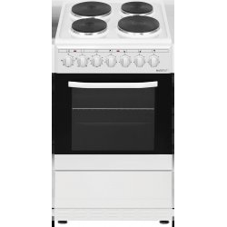 Eurotech 50cm White Freestanding Electric Hotplate Cooktop & Electric Oven (ED-HPFC50 WH)