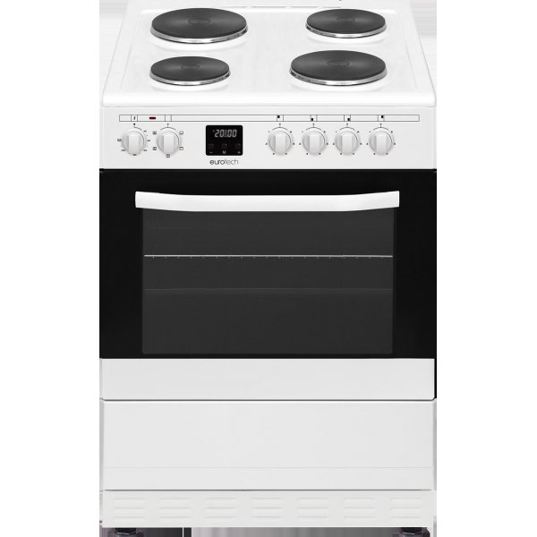 Eurotech 60cm White Freestanding Electric Hotplate Cooktop & Electric Oven (ED-HPFC60 WH)