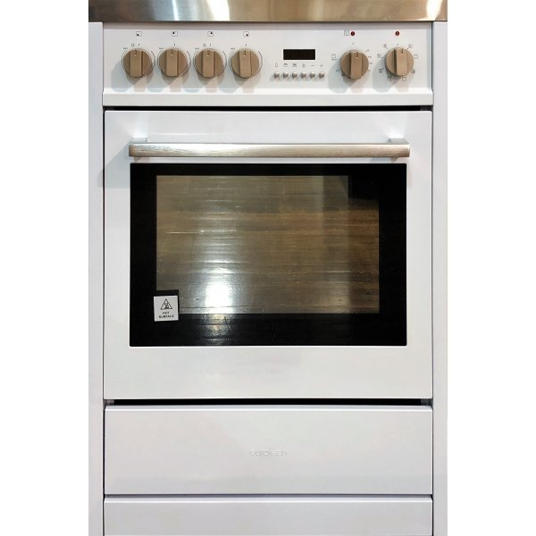 Eurotech 60cm White Freestanding Ceramic/Electric Stove with Catalytic Cleaning (EUR-FSC60WH)