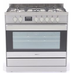 Eurotech 90cm Gas Hob/Electric Oven Freestanding Cooker (ED-EUROGE90SS)