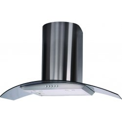 Eurotech 90cm Canopy Rangehood - Curved Tempered Glass (ED AMBRA 90C)