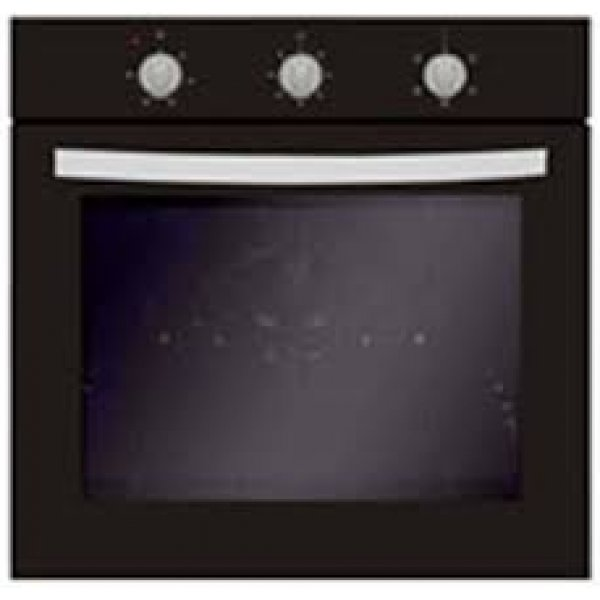 Eurotech 60cm Built In Black Electric Multifunction Oven - 76L  (ED-BIO5FMT BK)