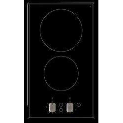 Eurotech 30cm Black 2 Zone Ceramic Cooktop with Knob Controls (ED-CC302K)