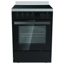 Eurotech 60cm Black Freestanding Ceramic/Electric Stove with Catalytic Cleaning (ED-EUROC60BK)