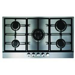 Eurotech 86cm 5 Gas Burners incl Triple Wok in Stainless Steel (ED-GC905SS)