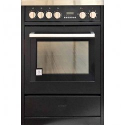 Eurotech 60cm Black Freestanding Ceramic/Electric Stove with Catalytic Cleaning (EUR-FSC60BK)