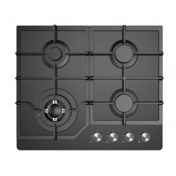 Award 60cm Built-In Black Glass Gas Hob (H603BG)