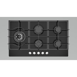 Award 86cm Built-In Black Glass Gas Hob (H903BG)