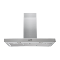 90cm Box Style SS Rangehood by Indesit (IHBS 9.5 AM X)