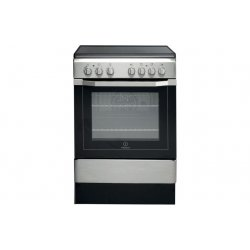 Indesit 60cm Ceramic/Electric Stainless Steel Freestanding Cooker (I6VV2AX)