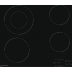 Indesit 60cm Black Glass Frameless Ceramic Touch Control Cooktop (RI 260C)