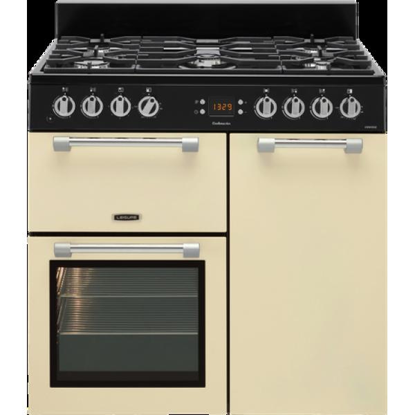 Leisure 90cm Cream Dual Fuel Gas/Electric Freestanding Cookmaster (CK90F232C)