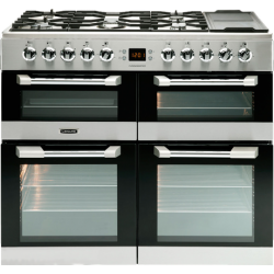 Leisure -100cm Dual Fuel Gas Hob with Griddle Zone / Electric Ovens with Ceramic Zone Freestanding Cuisinemaster (CS100F520X)