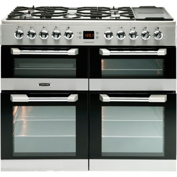 Leisure -100cm Dual Fuel Gas Hob with Griddle Zone / Electric Ovens with Ceramic Zone Freestanding Cuisinemaster (CS100F520K)