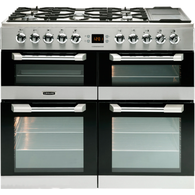 100cm Dual Fuel Gas Hob With Griddle Zone Electric Ovens
