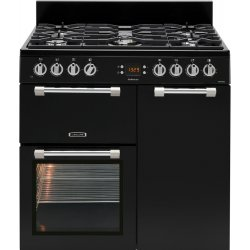 Leisure 90cm Black Dual Fuel Gas/Electric Freestanding Cookmaster (CK90F232K)