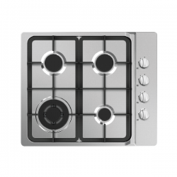 Midea 60cm Gas Cooktop with 4 Burners - Stainless Steel (60G40ME403-SFT)