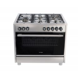 Omega 90cm Gas/Electric Cooker with 5 Gas Burners incl Wok (OF914FX)