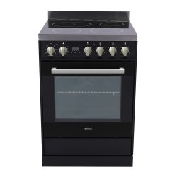 Parmco 60cm Black Ceramic Cooktop Electric Oven with Catalytic Cleaning (FS600BC)