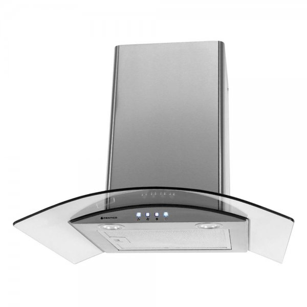 Parmco 60cm Curved Glass Stainless Steel Canopy Rangehood (T4-11GLA-6L)