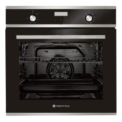 Parmco 60cm Black Glass Stainless Steel 76L 8 Function Built-In Oven (OX7-2-6S-8-1)