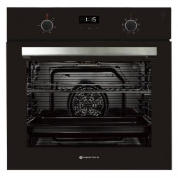 Parmco 60cm 76L Black Glass and SS 8 Function Oven (OX7-4-6B-8-1)