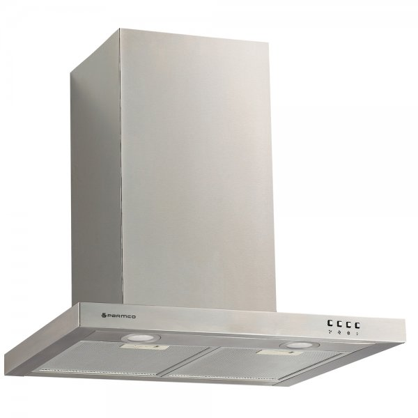 Parmco 60cm SS Low Profile Slim Box Canopy Rangehood -1000m3-h (T4-12LOW-6L)