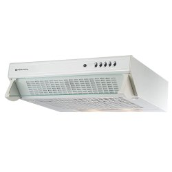 Parmco 60cm Caprice Glass Front Top or Rear Mounted White Rangehood - 350m3-hr (T5C-6W-350)