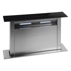 Parmco 60cm Black Glass Panel Rear Riser Downdraft with 1000m3/hr Extraction (DD-600RR-G)