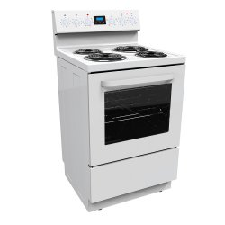 Parmco 60cm White Freestanding Electric Radiant Coil Elements Cooker (FS60R-4W)