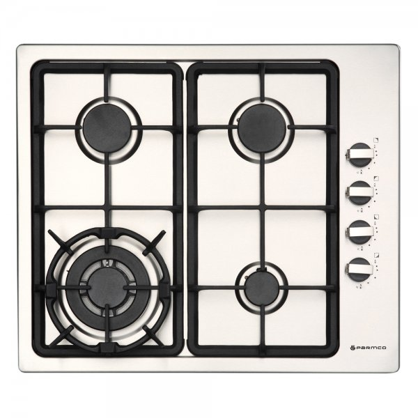 Parmco 60cm 4 Burner Gas Hob in Stainless Steel (HO-1-6S-3GW)