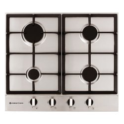 Parmco 60cm 4 Burner Low Profile Gas Hob in Stainless Steel (HO-2-6S-4G)