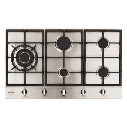Parmco 90cm Low Profile 5 Burner Gas Hob in Stainless Steel (HO-2-9S-4GW)