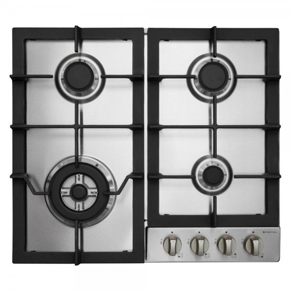 Parmco 60cm 4 Burner Gas Hob in Stainless Steel (HO-6-6S-3GW)