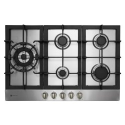 Parmco 77cm Recessed 5 Burner Gas Hob in Stainless Steel (HO-6-77S-4GW)
