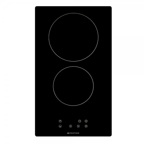 Parmco 30cm Black 2 Zone Ceramic Domino Hob with Touch Controls (HX-2-2NF-CER-T)