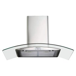 Parmco 90cm Curved Glass Stainless Steel Canopy Rangehood (T4-11GLA-9L)
