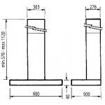 Parmco 90cm SS Low Profile Slim Box Canopy Rangehood -1000m3-h (T4-12LOW-9L)
