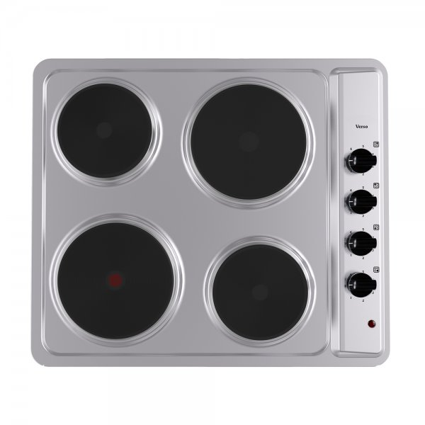 Parmco 60cm Stainless Steel Verso Electric 4 Solid Element Hob (VH-1-6S-4E)